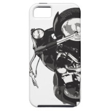 Motocicleta negra de Harley iPhone 5 Cárcasa