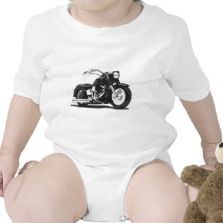 Motocicleta negra de Harley Camiseta