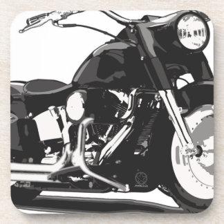 Motocicleta negra de Harley Posavasos De Bebidas