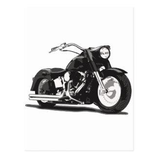 Motocicleta negra de Harley Postales
