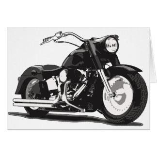 Motocicleta negra de Harley Tarjeta De Felicitación