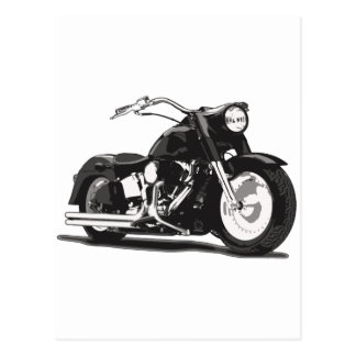 Motocicleta negra de Harley Tarjetas Postales