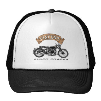 Motocicleta negra de la sombra de Vincent Gorro