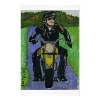 motocicleta papelería personalizada