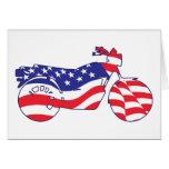 Motocicleta patriótica felicitaciones
