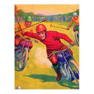 Motocicleta Polo de los deportes impares del Tarjetas Postales