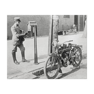 Motocicleta Postman, 1909 Impresión En Lona