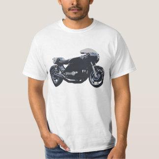 Motocicleta que compite con clásica playeras