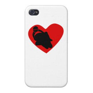 Motocicleta que compite con el corazón iPhone 4/4S carcasa