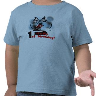 Motocicleta que compite con las 1ras camisetas y r
