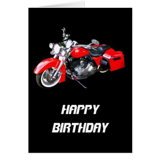 Motocicleta que viaja roja tarjetas