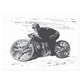 Motocicleta Racer#3 de la pista del tablero del Postal