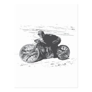 Motocicleta Racer#3 de la pista del tablero del Postales
