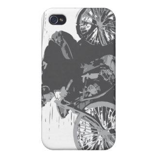 Motocicleta Racer#3 de la pista del tablero del vi iPhone 4 Carcasa