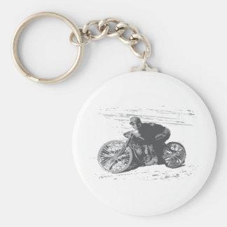 Motocicleta Racer#3 de la pista del tablero del vi Llavero Personalizado