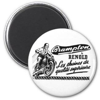 Motocicleta retra de Brampton Renold del vintage Imán Redondo 5 Cm