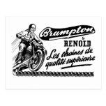 Motocicleta retra de Brampton Renold del vintage Postal