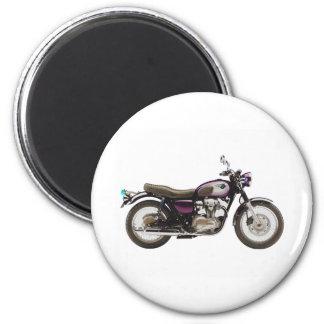 Motocicleta retra imán redondo 5 cm