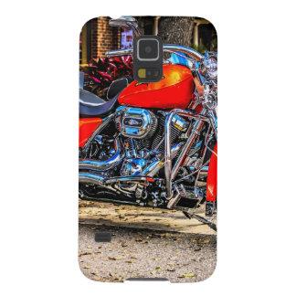 Motocicleta roja de encargo del cerdo carcasa para galaxy s5