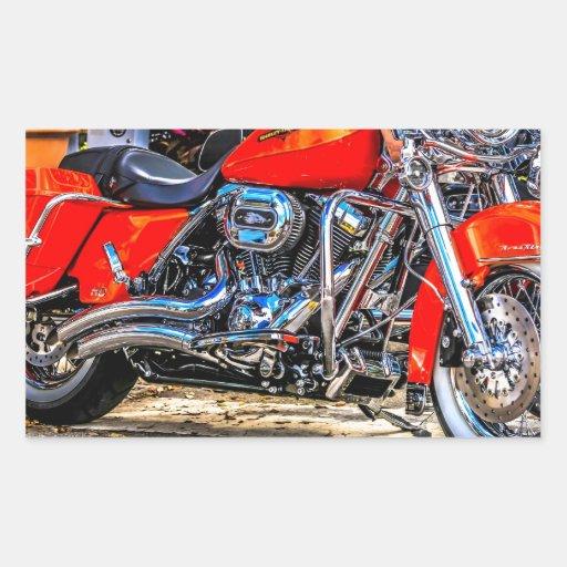 Motocicleta roja de encargo del cerdo rectangular altavoces