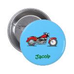 Motocicleta roja del dibujo animado - moto pin