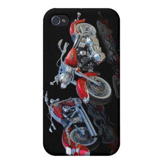 Motocicleta roja iPhone 4/4S carcasas