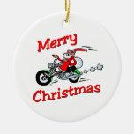 Motocicleta Santa Adorno De Navidad