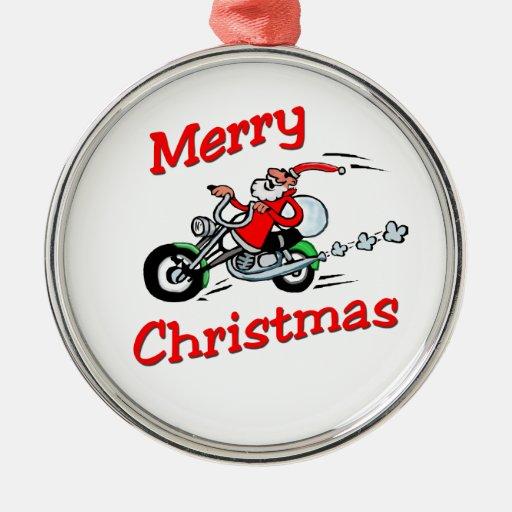 Motocicleta Santa Adorno Redondo Plateado