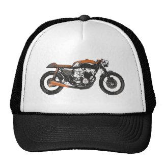 Motocicleta simple - dibujo del corredor 750 del c gorro
