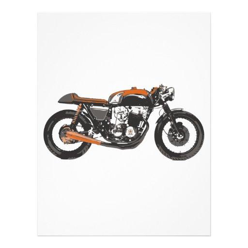 Motocicleta simple - dibujo del corredor 750 del c membrete personalizado
