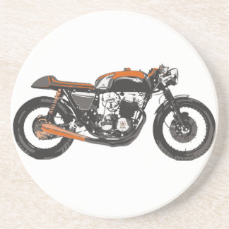 Motocicleta simple - dibujo del corredor 750 del c posavaso para bebida
