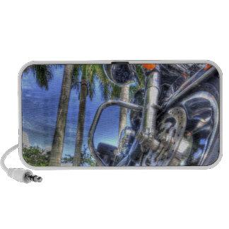 Motocicleta tropical altavoces de viaje