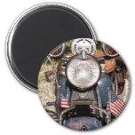 motocicleta vieja de la policía de Harley-Davidson Imán