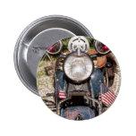 motocicleta vieja de la policía de Harley-Davidson Pins