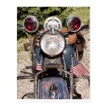 motocicleta vieja de la policía de Harley-Davidson Postal