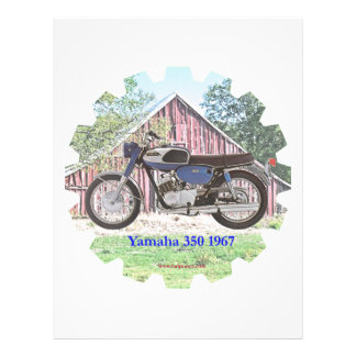Motocicleta Yamaha de 1967 obras clásicas Membrete Personalizado