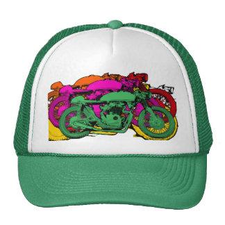 Motocicletas coloridas adaptables del arte pop gorra