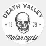 Motocicletas de Death Valley Etiqueta Redonda