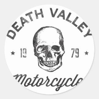 Motocicletas de Death Valley Pegatina Redonda