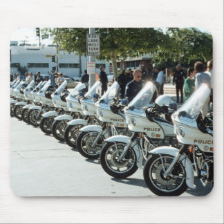 Motocicletas de la policía alfombrilla de raton