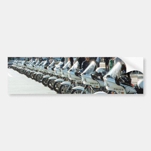 Motocicletas de la policía etiqueta de parachoque