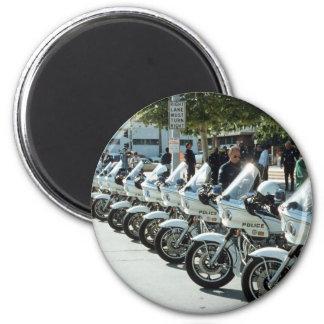Motocicletas de la policía imanes