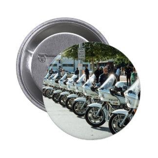 Motocicletas de la policía pin redondo 5 cm