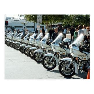Motocicletas de la policía tarjetas postales