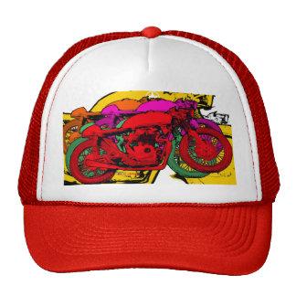 Motocicletas del arte pop del estilo - ROJO Gorras De Camionero