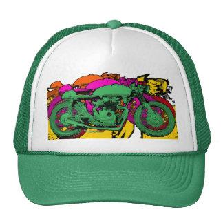 Motocicletas del arte pop del estilo - verde gorro de camionero