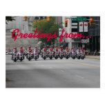 Motocicletas del deletreo, saludos de… postales