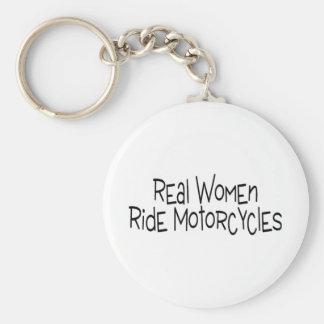 Motocicletas del paseo de las mujeres reales llavero