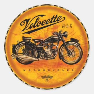motocicletas del velocette pegatina redonda