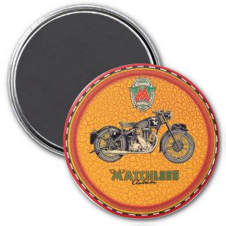 Motocicletas incomparables imán redondo 7 cm